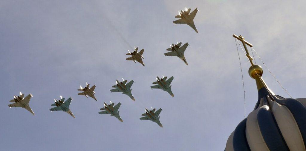 Rus Hava Kuvvetleri Gösteri Uçuşunda