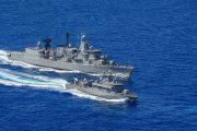 Yunan Deniz ve Hava Kuvvetleri gerçek mermiler ile ateşli tatbikat eğitimi yaptı