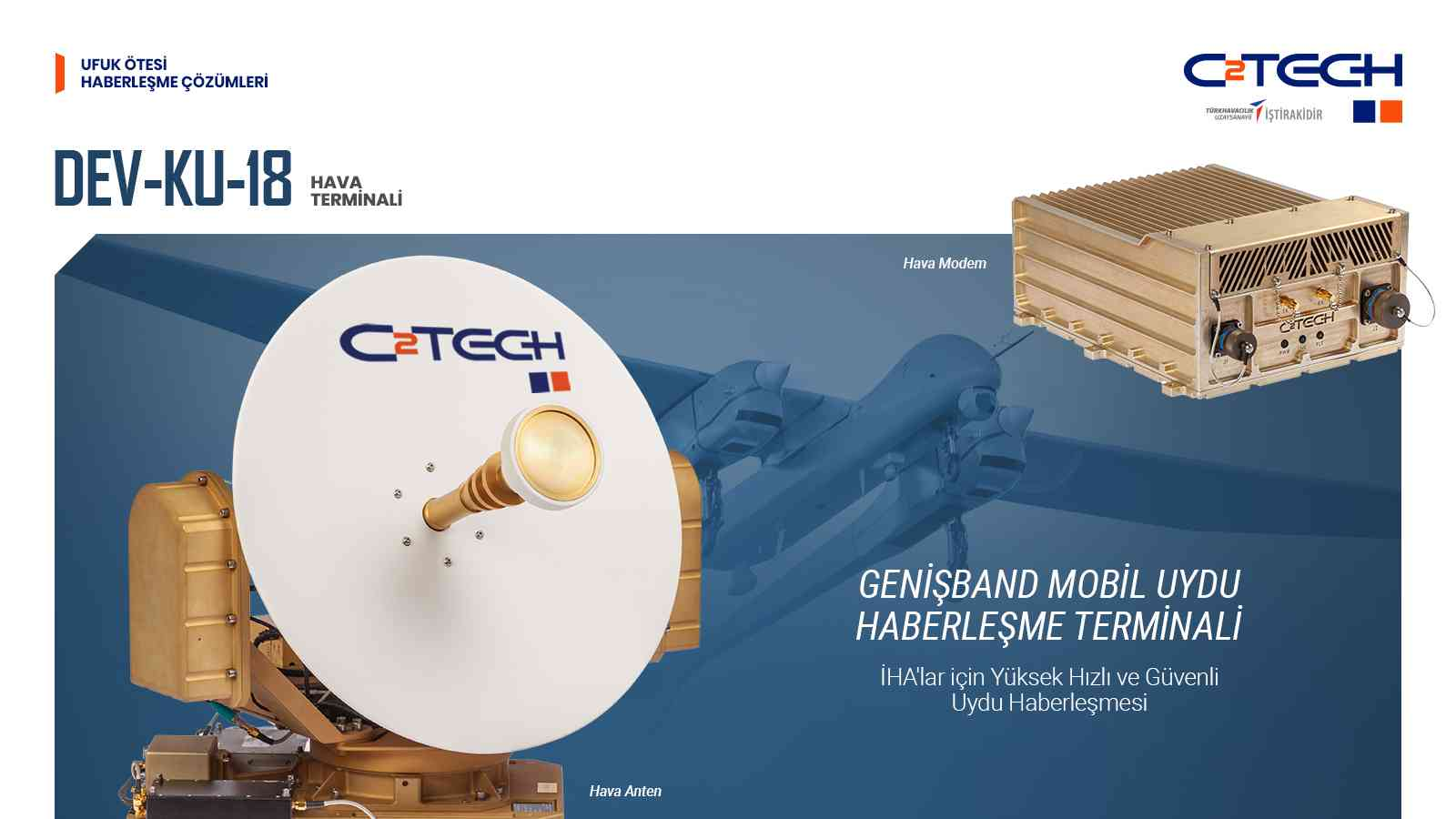 Aksungur SİHA, CTech tarafından üretilen yerli uydu haberleşme sistemini kullanıyor