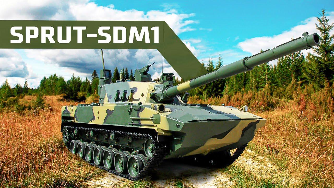 Rusya'nın yeni hafif yüzer tankı Sprut-SDM1 test edildi